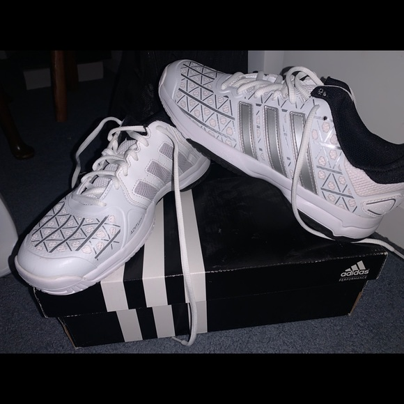 adidas Shoes | White Tennis Girls Size